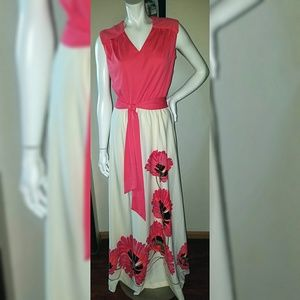 Alfred Shaheen Gorgeous Handpaintd Poppies Gown 12